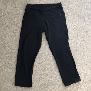 ADIDAS CAPRI ATHLETIC TIGHTS NAVY BLUE SIZE SMALL